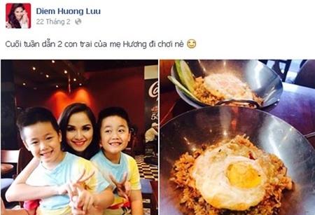Diễm Hương đưa con trai đi ăn cuối tuần?!