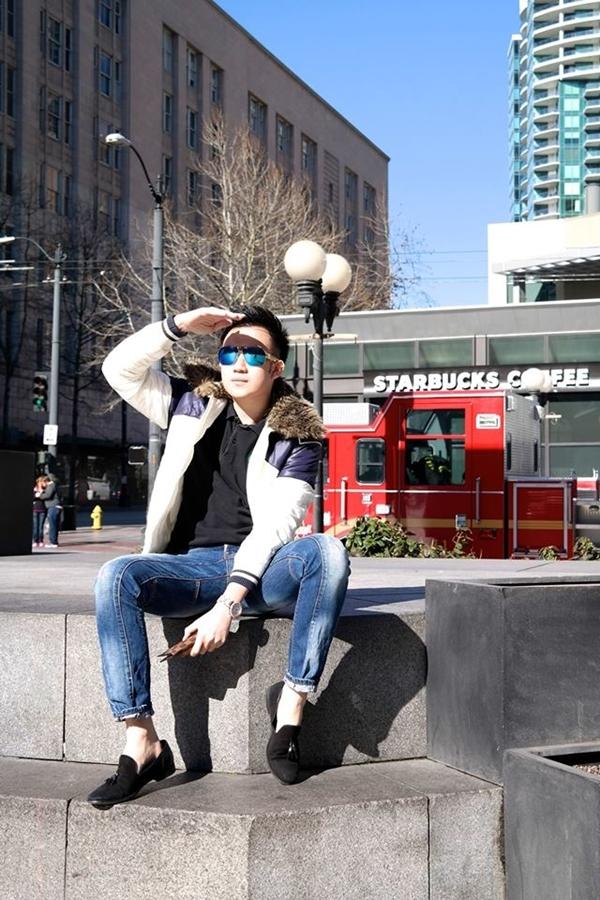 Dương Triệu Vũ đang tận hưởng chuyến đi của mình tại Mĩ.