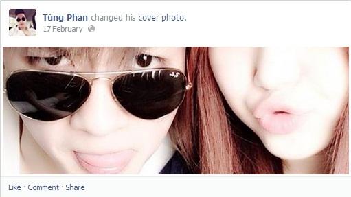 """Người yêu của Hương Tràm đến bây giờ vẫn giữ hình trên """"cover photo"""" là hình chụp rất nhí nhảnh khi bên cạnh cô."""