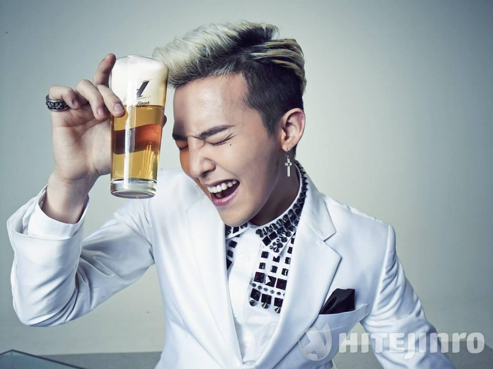 G-Dragon cực chất bên mẩu quảng cáo