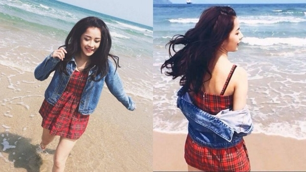 Hot girl Hà thành vừa trải qua kì nghỉ thú vị tại biển Đà Nẵng. Hình ảnh được Chi Pu chia sẻ trên trang cá nhân.
