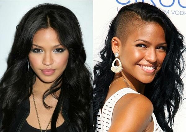 Nếu như thiếu tên Cassie trong danh sách những người đẹp nổi loạn cùng mốt cạo nửa đầu quả là thiếu sót. Bởi người đẹp da màu được xem như người làm sống dậy xu hướng táo bạo này. Và không thể phủ nhận, kiểu tóc này giúp nữ ca sĩ thêm xinh đẹp và cá tính.