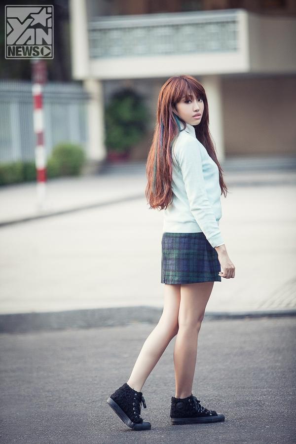 Ngắm Lương Minh Trang nghịch ngợm cá tính trong trang phục bạn trai