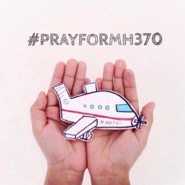 """Bức ảnh """"Cầu nguyện cho MH370"""" - Ảnh: Twitter"""