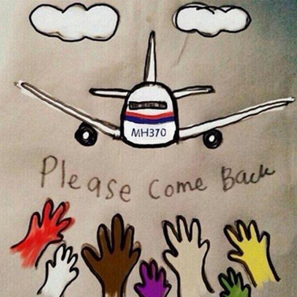 """Bức ảnh trên Twitter với dòng chữ """"MH370, xin hãy quay về"""" - Ảnh: Twitter"""