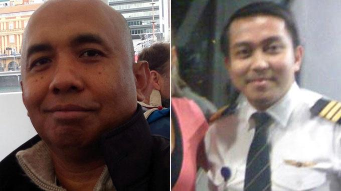 Cơ trưởng MH370 Zaharie Ahmad Shah (trái) và phụ lái Fariq Ab Hamid - Ảnh: nypost.com