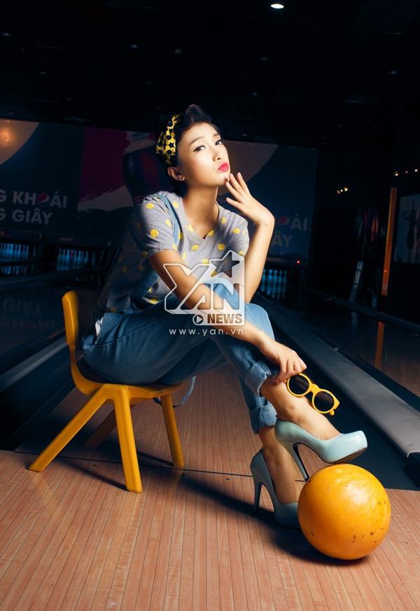 Hình ảnh trẻ trung và thời trang theo phong cách Retro Chic của Tiêu Châu Như Quỳnh.