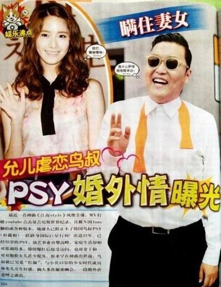 Yoona phải đối mặt với tin đồn vô căn cứ với đàn anh PSY