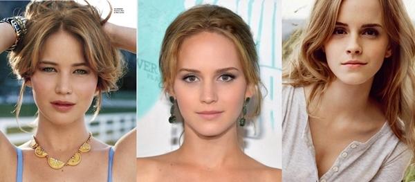 Jennifer LawrencevàEmma Watson khi gộp chung những nét đẹp của nhau lại đã tạo thành một mỹ nữ khiến triệu người phải ghen tị với nhan sắc.