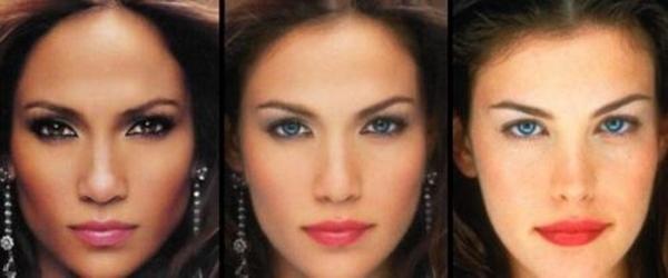 """Jennifer Lopez và Liv Tyler """"phối hợp"""" với nhau tạo ra một mỹ nhân với đôi mắt của Liv Tyler và đôi môi ngọt ngào cùa Jennifer Lopez."""
