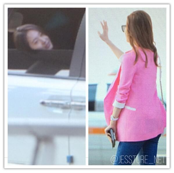 Krystal bất ngờ có mặt tại sân bay và tạm biệt chị gái Jessica