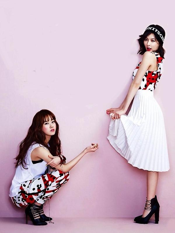 Diện đồ đáng yêu cùng cô bạn thân như 4Minute