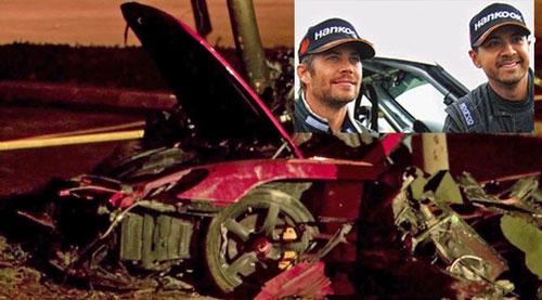 Hiện trường chiếc xe sau khi tai nạn xảy ra.