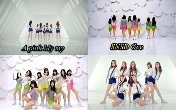 Ca khúc My My (2011) của Apink trùng hợp về hình tượng và một số đoạn vũ đạo với hit lớn Gee (2009) của SNSD