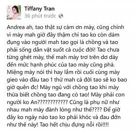 """Status """"đùa"""" tố chồng đã đượcQuỳnh Trâmxóa đi sau gần 1 giờ xuất hiện trên trang cá nhân của cô"""