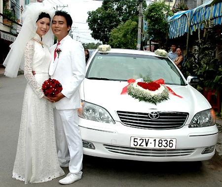 Xuân Lan và chồng trong ngày cưới