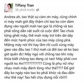 """Status phanh phui chồng và """"tình địch"""" đã được xóa đi sau gần 1 giờ xuất hiện trên trang cá nhân của Quỳnh Trâm"""
