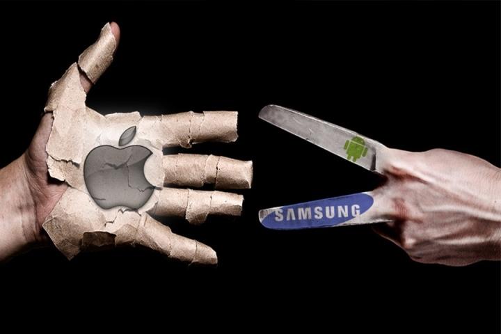 Thị phần của Apple bị ảnh hưởng đáng kể sau thành công của Android và Samsung.