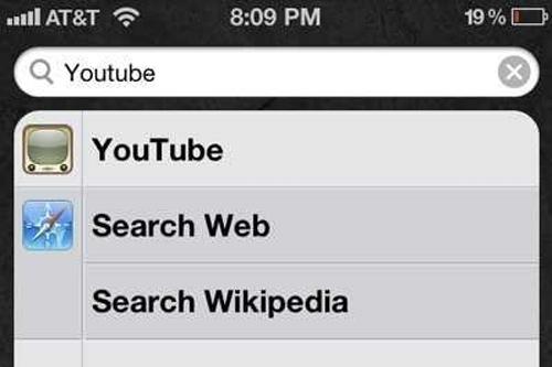 Bằng sáng chế từ năm 2005 về Universal Search, cho phép tìm kiếm trên iPhone, iPad cùng các lựa chọn khác như tra cứu qua web, YouTube, Wikipedia... Tính năng này xuất hiện từ bản Android 3.0 Honeycomb năm 2010, tức không phải do Samsung tự ý sao chép và đưa vào điện thoại Galaxy.