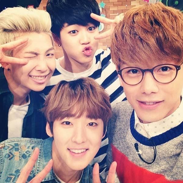 """Eric Nam """"nhí nhố"""" cùng Kevin (U-Kiss) và Rap Monster, Jimin (BTS)"""