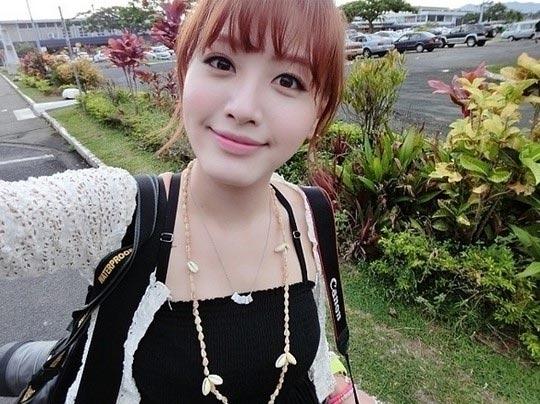 Jaekyung (Rainbow) đăng tải hình ảnh cô đang ở sân bay Nadi