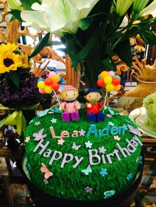 Chiếc bánh sinh nhật mừng 2 tuổi của cặp đôi song sinh. - Tin sao Viet - Tin tuc sao Viet - Scandal sao Viet - Tin tuc cua Sao - Tin cua Sao