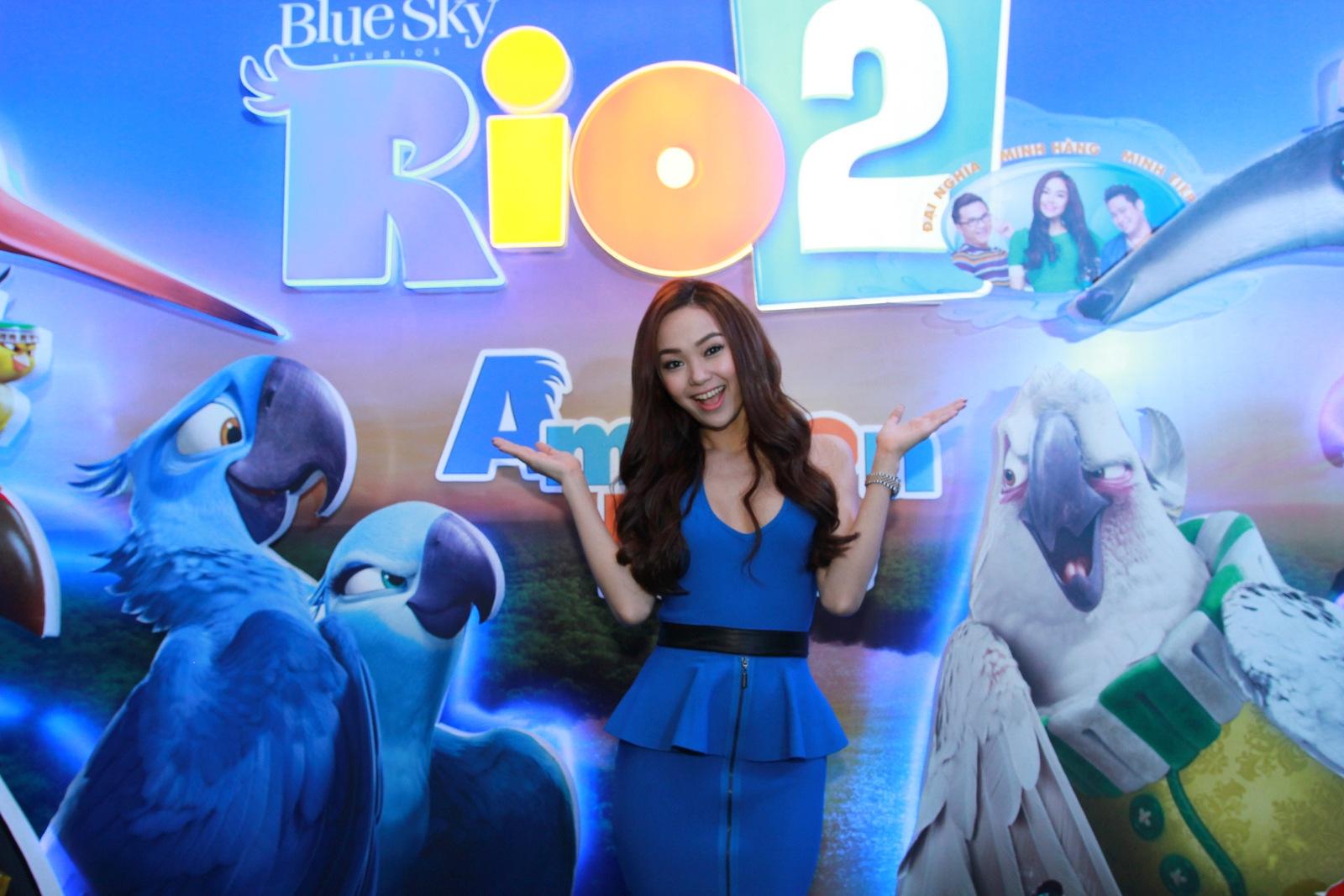 Trong Rio 2, Minh Hằng sẽ tiếp tục đảm nhận phần lồng tiếng cho nhân vật Jewel.