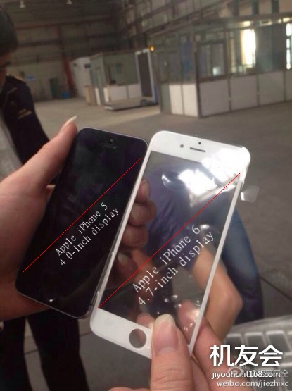 Tấm màn hình iPhone 6 so sánh với iPhone 5S
