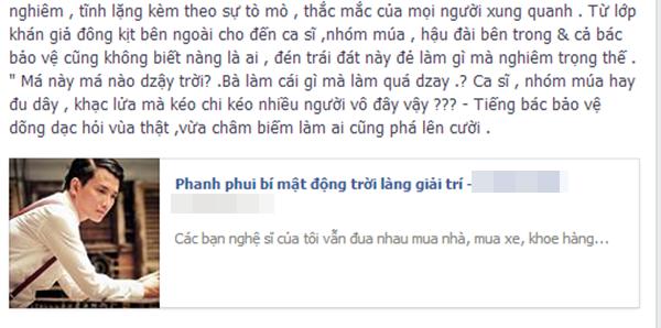 Dòng status khá dài mà Minh Quân kể tiếp chuyện của Bá Thắng.