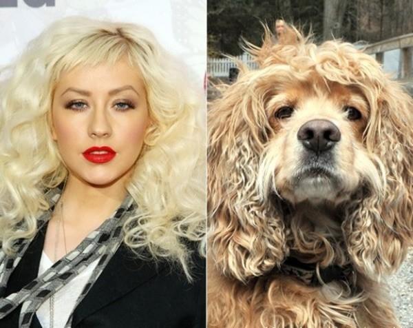 Nữ danh ca Christina Aguilera.