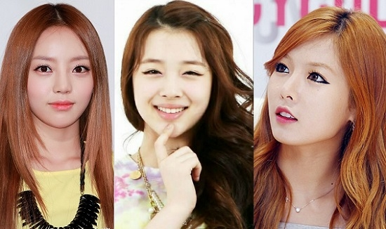 """Đôi môi gợi cảm của Hara cũng dẫn đầu danh sách """"Đôi môi đẹp nhất"""", đứng thứ 2 và 3 là Sulli và HyunA (4minute)."""