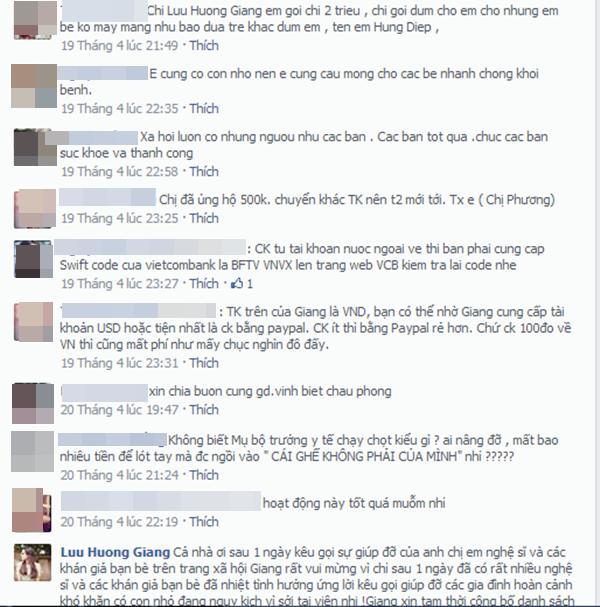 Rất nhiều ý kiến cũng như lời quan tâm mà khán giả dành cho Lưu Hương Giang - Tin sao Viet - Tin tuc sao Viet - Scandal sao Viet - Tin tuc cua Sao - Tin cua Sao