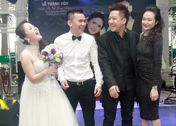 Vợ chồng Tuấn Hưng đến dự lễ cưới của Anh Tú và Lam Trang - Tin sao Viet - Tin tuc sao Viet - Scandal sao Viet - Tin tuc cua Sao - Tin cua Sao