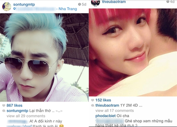 """Ngày 18/4 Thiều Bảo Trâm chia sẻ hình ảnh kỷ niệm yêu nhau cùng chàng Cua, thì Sơn Tùng """"lại thẫn thờ"""" ở Nha Trang"""