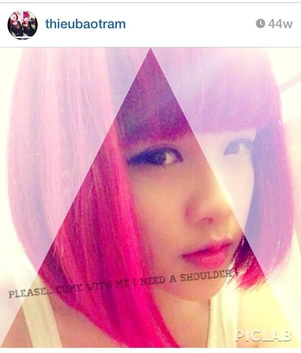 Ngày 15/6 trên trang instagram của Thiều Bảo Trâm