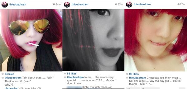 Sau ngày 15/8 Thiều Bảo Trâm cũng ít cập nhật trang instagram của mình và những chia sẻ của cô thường nhắc đến Mưa và Crab (cua) như một bí danh đặc biệt.