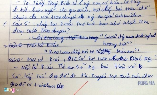 Một học sinh khác khuyên Thúy Kiều nên thi tuyển vợ của các đại gia để có tiền chuộc cha.