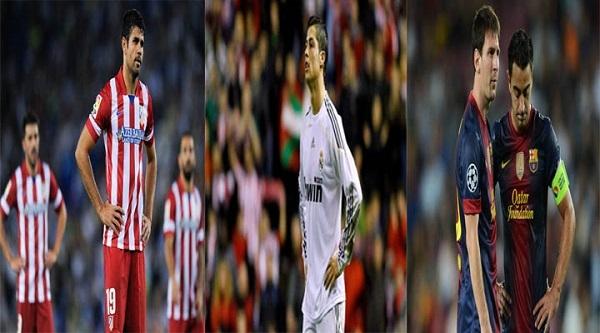 Tam đại gia ở La Liga đều không thắng ở vòng 36 La Liga