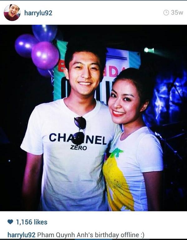 Cả hai rất trẻ trung, rạng rỡ trong tiệc sinh nhật của Phạm Quỳnh Anh