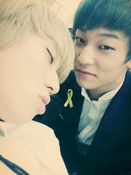 L.Joe (teen Top)đăng tải hình Niel đang ngủ