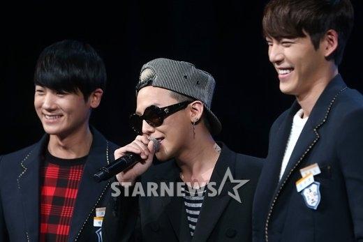 Kim Woo Bin có dịp đứng cùng G-Dragon trên sân khấu M!Countdown