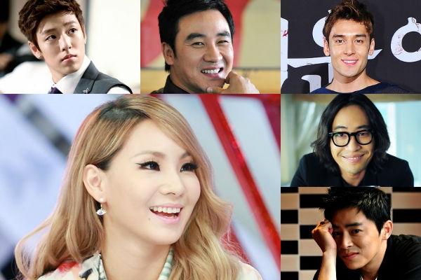 """Với phong cách cá tính và ấn tượng, CL (2NE1) đã thu hút rất nhiều sự chú ý của các """"đàn anh"""" như"""" Lee Hyun Woo, Julien Kang, Jo Jung Suk, Uhm Tae Woong và Ryu Seung Bum."""