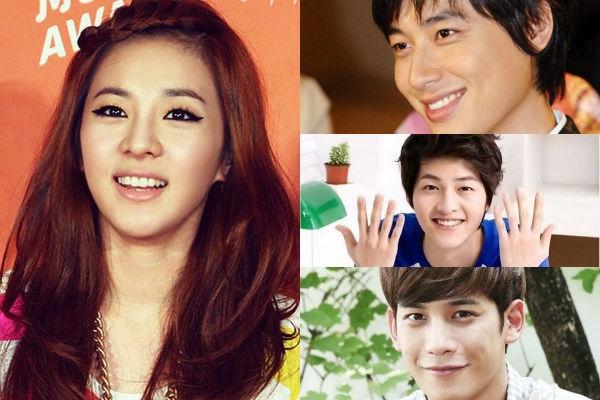"""""""Người đẹp không tuổi"""" Dara (2NE1) cũng có không ít """"fan boy"""". Trong danh sách những người nổi tiếng hâm mộ Dara thì ngoài các đàn em hoạt động cùng ngành giải trí thì các anh diễn viên cũng là fan của cô như: Park Ki Woong, Song Joong Ki và Lee Ji Hoon."""