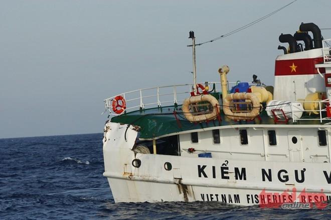 Tàu kiểm ngư 767 là một trong những tàu kiểm ngư Việt Nam bị Trung Quốc đâm và gây hư hỏng.