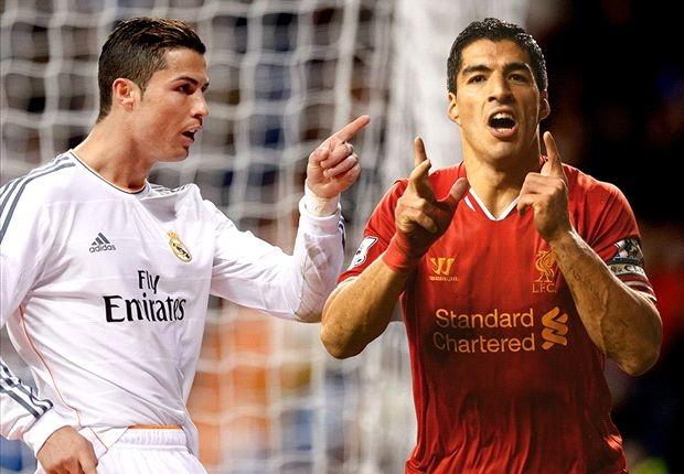 Ronaldo và Suarez cùng có 31 bàn, xếp trên Messi (28 bàn) và Diego Costa (27) mùa này.