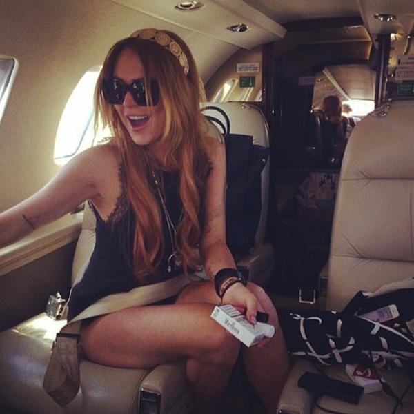 Lindsay Lohan có vẻ rất thích thú với chuyến du lịch của mình