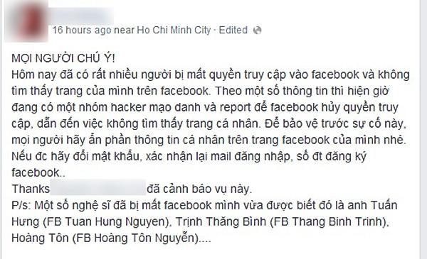 Một thông báo của cư dân mạng, vì không chỉ có Sao Việt, rất nhiều bạn trẻ khác cũng rơi vào hoàn cảnh tương tự mà không hiểu lý do vì sao.