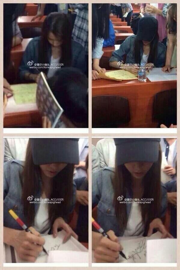 Yoona ký tên tặng cho các bạn