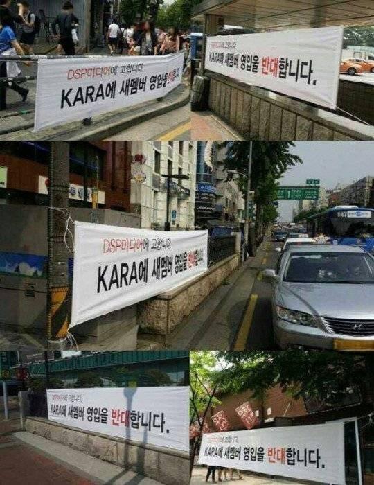 """Fan Kara """"biểu tình"""" phản đối thêm thành viên mới"""