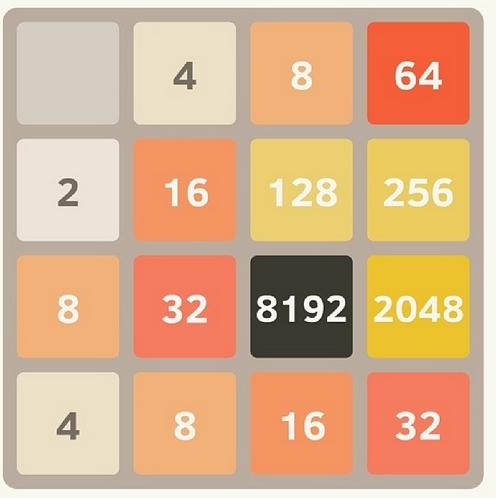 Chanyeol khoe ảnh chơi 2048 đến tận 8192